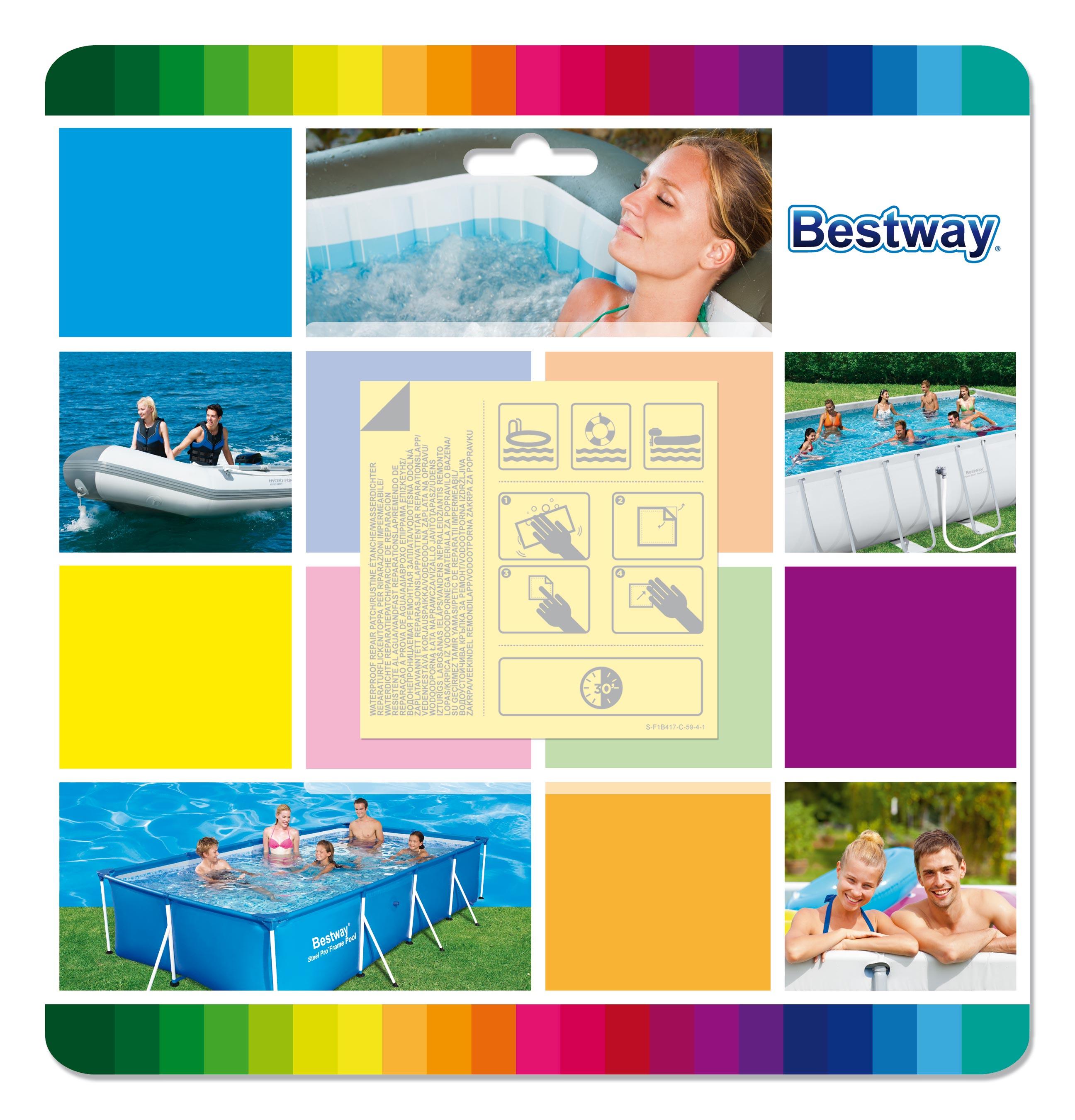 Reparaturflicken Bestway wasserfest 6,5x6,5cm 10 Stück Bild 1