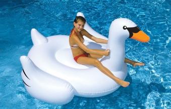 Schwimmtier / Wasserspielzeug MyPool Gigant Schwan 200x185x144cm Bild 1