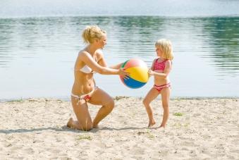 Wasserball / Strandball Ø 33cm Happy People 77800 Bild 1