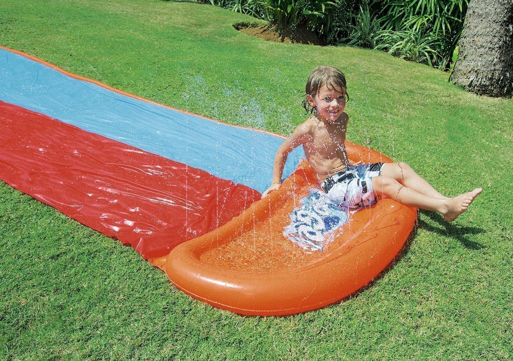 Wasserrutsche Bestway H2O GO Double-Slide 549x138cm Bild 3