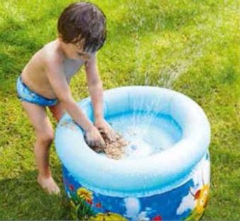 Wasserspiel / Wasserspieltisch Happy People Biene Maja 62x62x42cm Bild 2