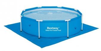 Bodenfolie / Unterlegplane Bestway für Pools 274 x 274cm blau Bild 1