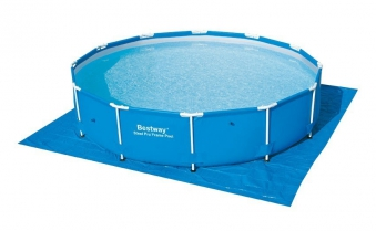 Bodenfolie / Unterlegplane Bestway für Pools 396 x 396cm blau Bild 1