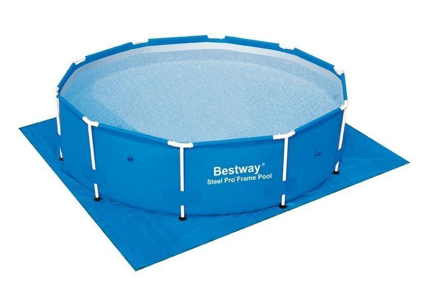 bodenfolie unterlegplane bestway f r pools 335 x 335 cm