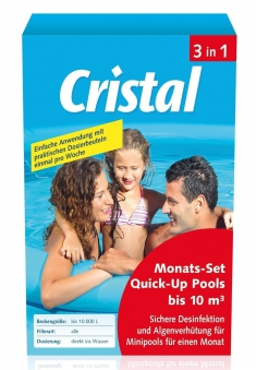 Cristal Wasserpflege Komplett Monats-Set 3in1 Quick-Up Pool 10m³ 600g