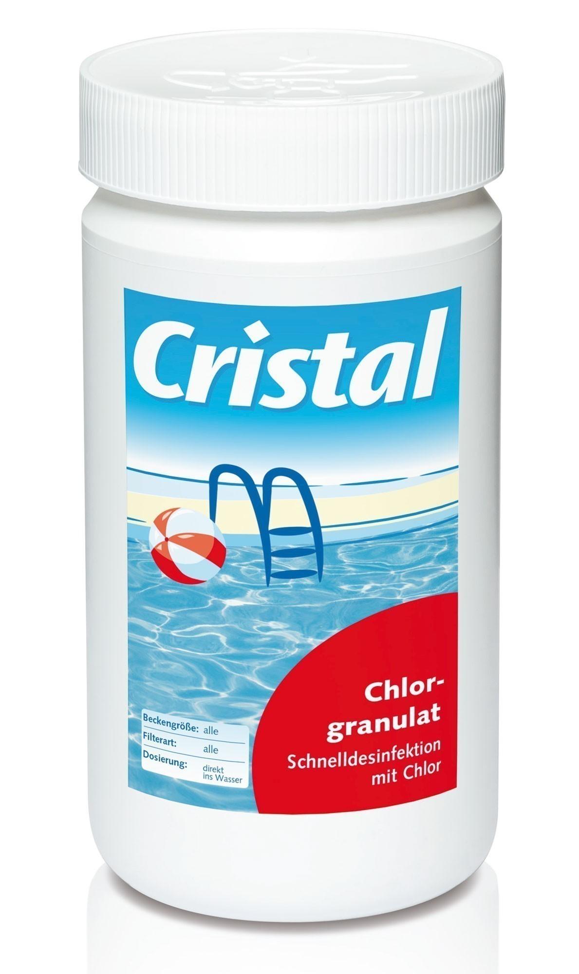 Cristal Wasserpflege Chlorgranulat 1 kg Bild 1