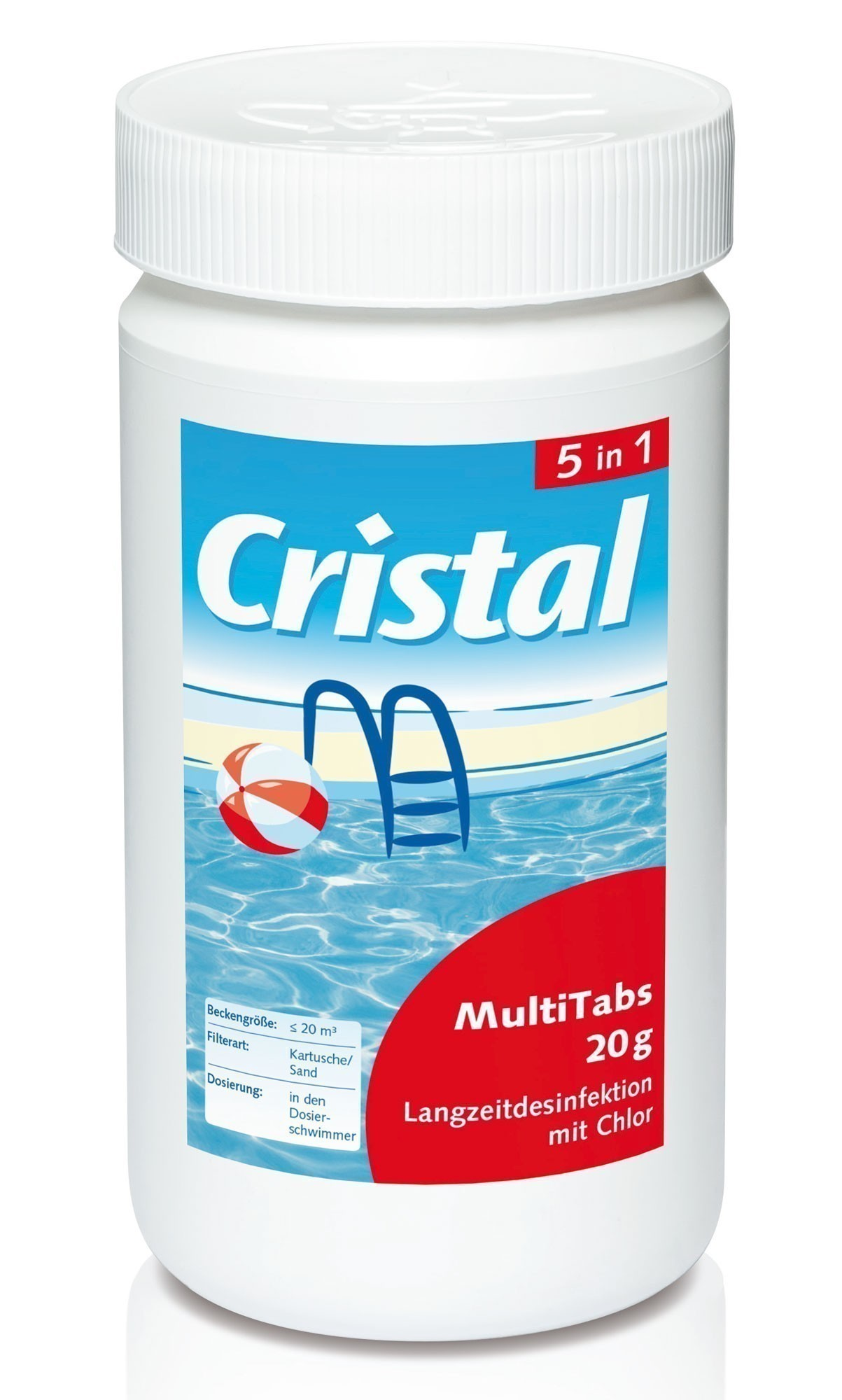 cristal wasserpflege desinfektion multi tabs 5in1 inhalt 1kg bei. Black Bedroom Furniture Sets. Home Design Ideas