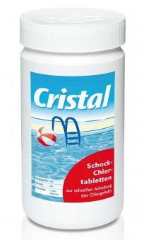 Cristal Wasserpflege Schockchlortabletten 1 kg Bild 1