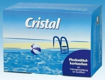 Cristal Wasserpflege Flockmittel Kartuschen 1 kg Bild 1