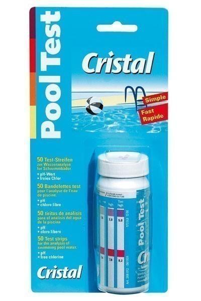 Cristal Wasserpflege Teststreifen pH-Wert & Chlorgehalt Bild 1