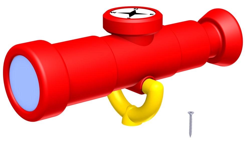 WINNETOO Fernrohr mit Kompass mehrfarbig Bild 1