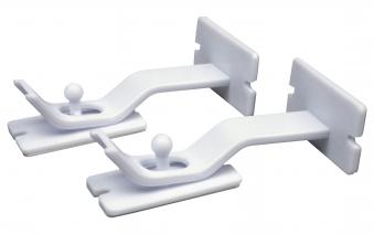 Sicherheitsverriegelungen / Schubladenverriegelung weiß 2er Set Bild 1