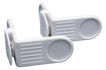 Universal Mini-Verriegelung / Eckschloss weiß 2er Set Bild 1