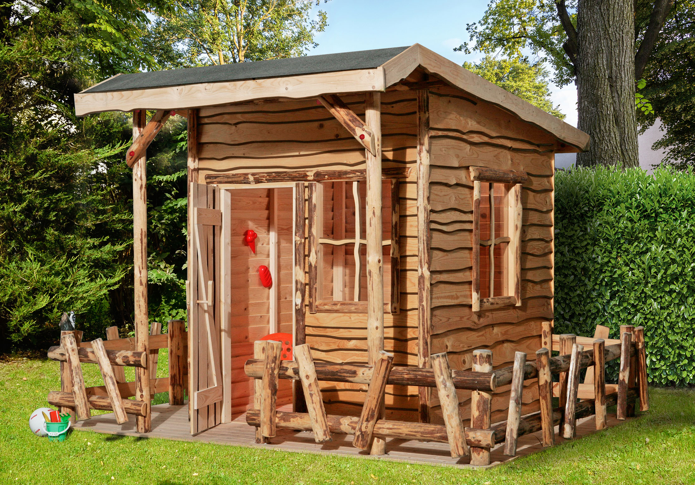Abenteuer-Spielhaus Weka mit Terrasse 300x255x212cm Bild 1