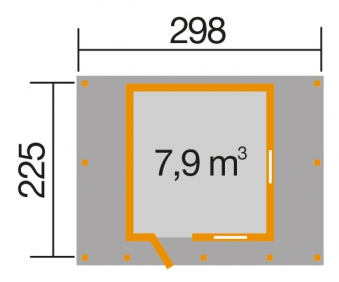 Abenteuer-Spielhaus Weka mit Terrasse 300x255x212cm Bild 2