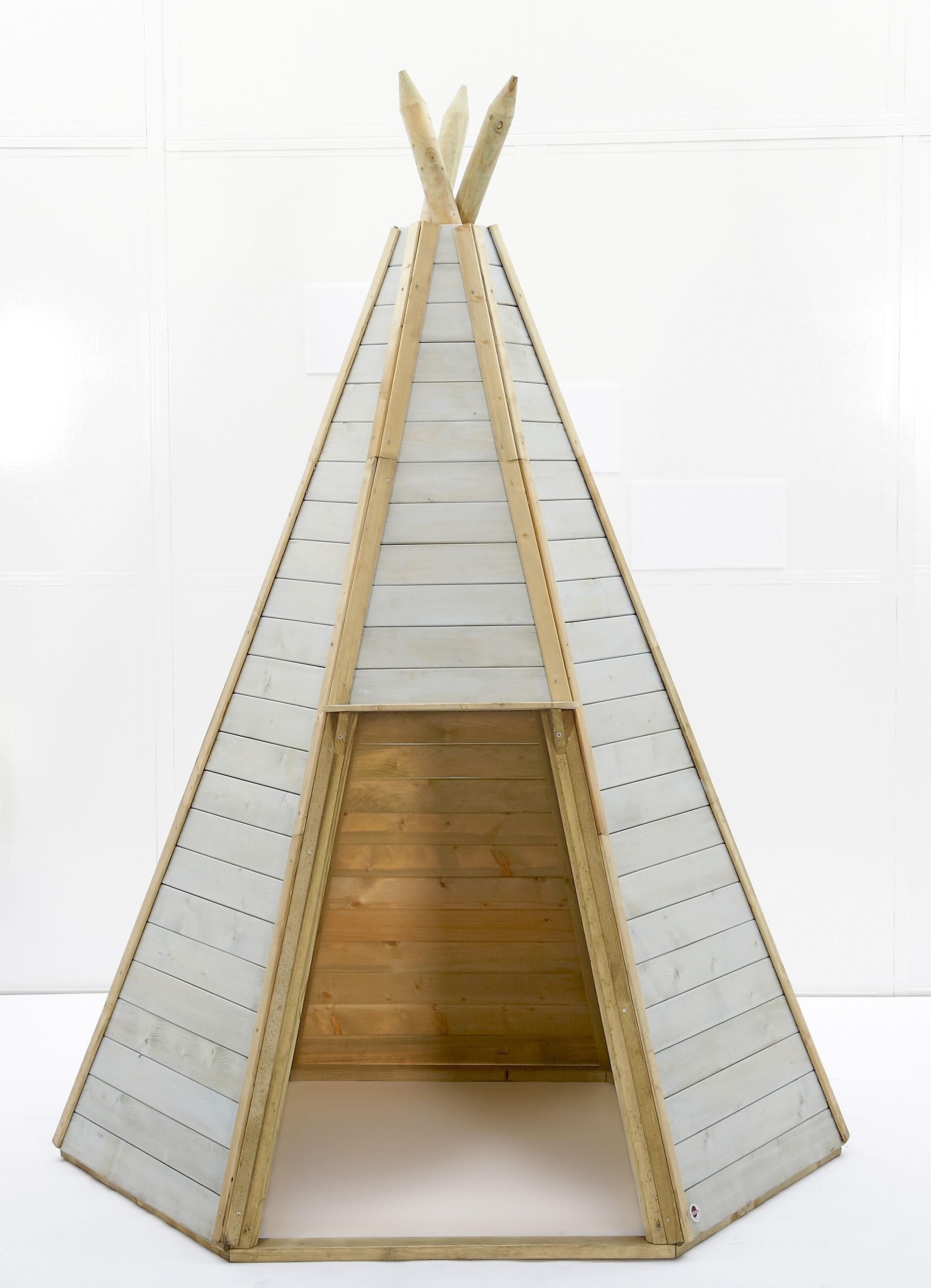 Indianerhütte Plum Tipi Holz Ø150xH230cm Bild 1