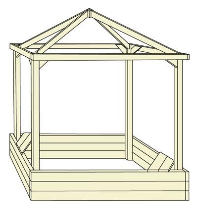 Kinderpavillon / Sandkasten Willi 152x152x180cm Bild 1
