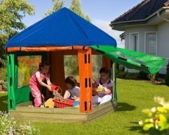 Dach mit Seitenteilen für Kinderpavillon Sandkasten Willi bunt