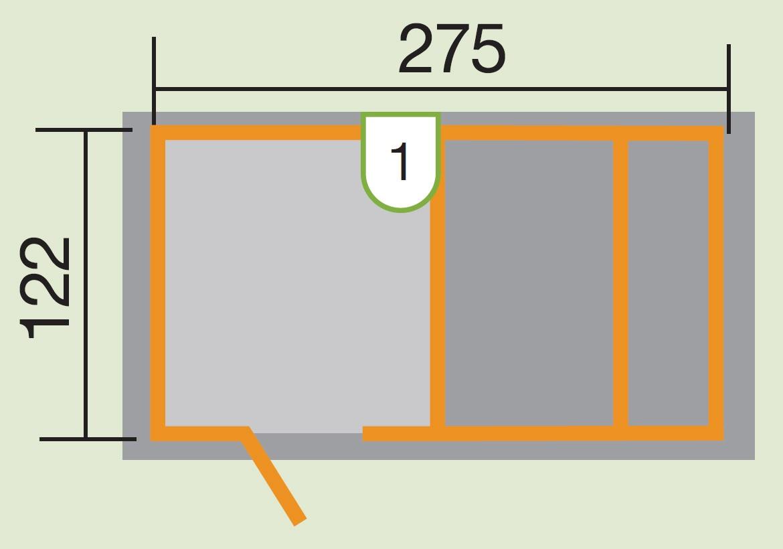 Kinderspielhaus Tabaluga Spielplatz rot Sandkasten + Pergola 286x153cm Bild 2