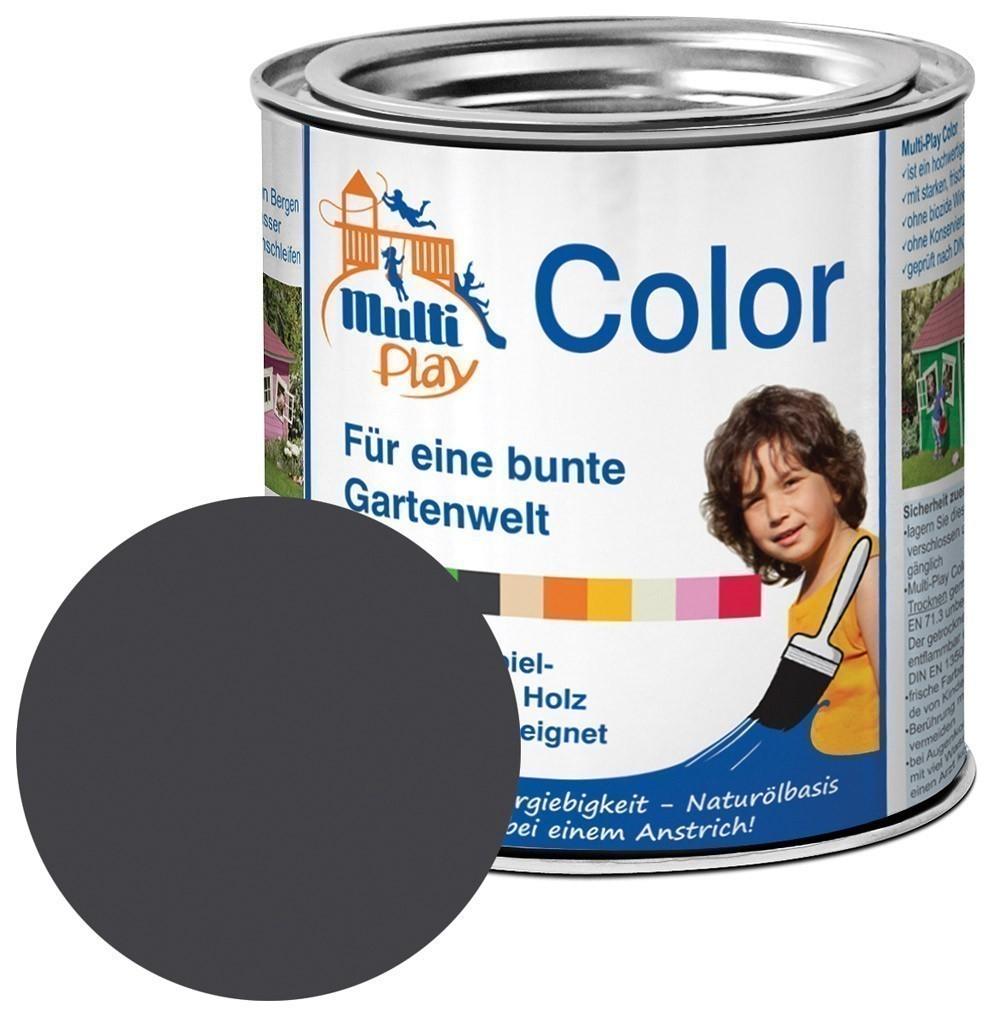 Multi-Play Color Naturöl Farbe / Holzschutzfarbe 375ml anthrazit Bild 1