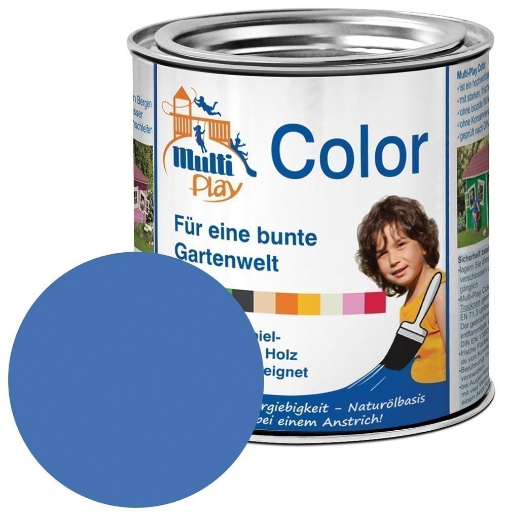 Multi-Play Color Naturöl Farbe / Holzschutzfarbe 375ml hellblau Bild 1