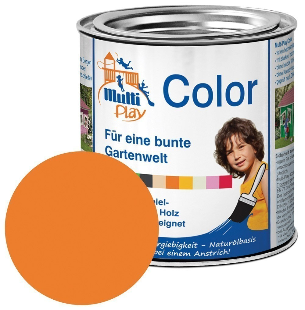 Multi-Play Color Naturöl Farbe / Holzschutzfarbe 375ml orange Bild 1