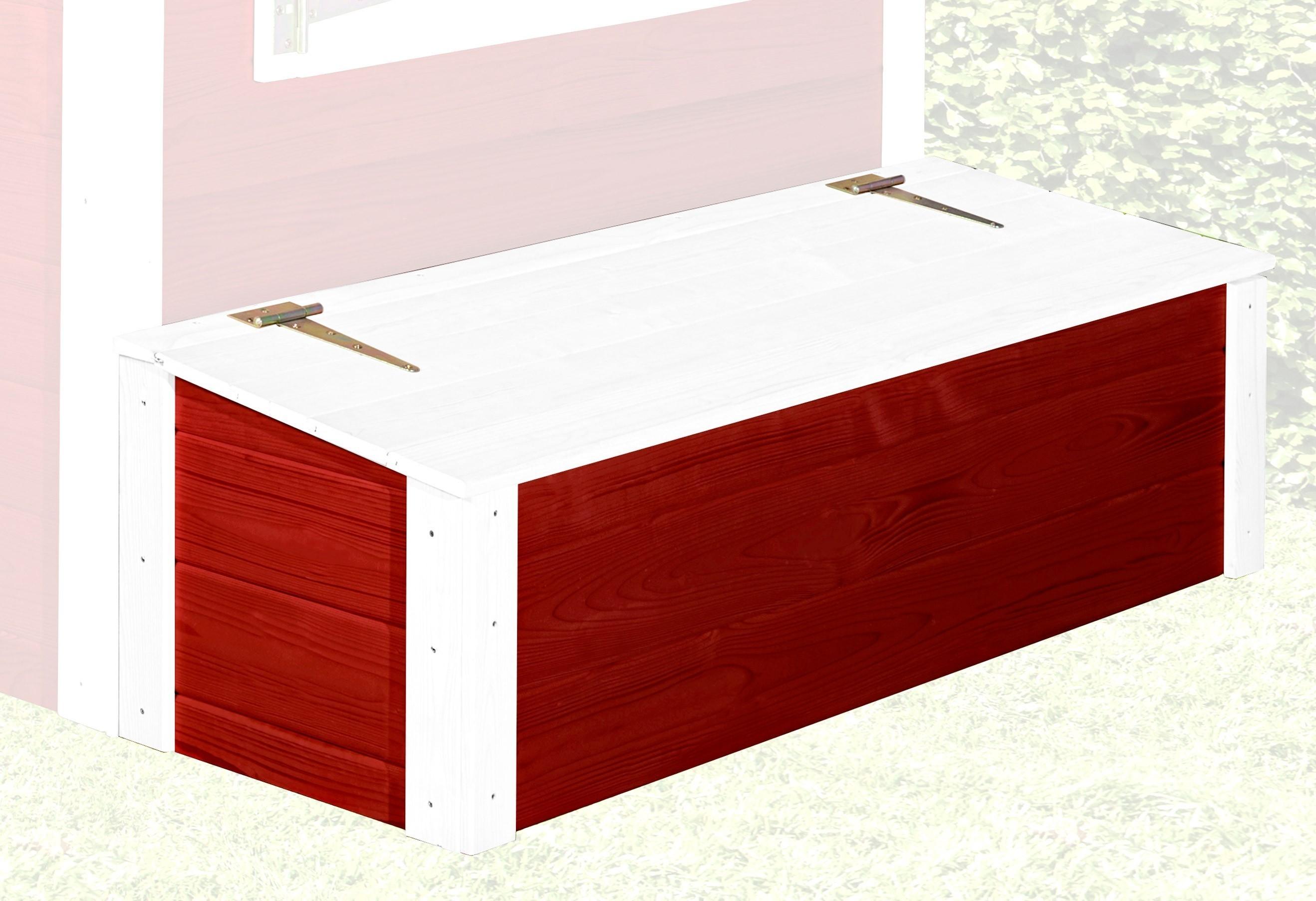 Schatztruhe für Kinderspielhaus Tabaluga Drachenhöhle rot 120x35cm Bild 1