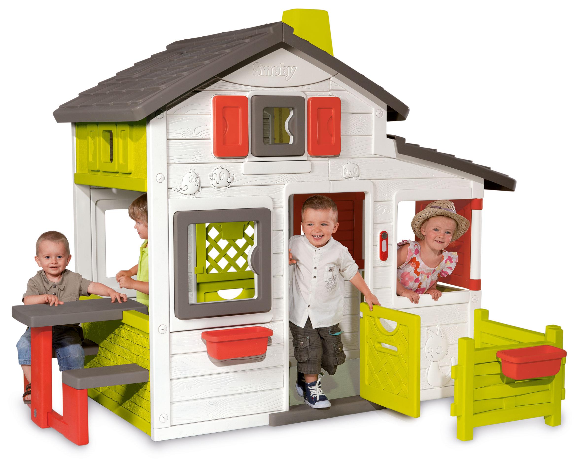 Smoby Spielhaus / Kinderspielhaus Friends Haus Kunststoff Bild 1