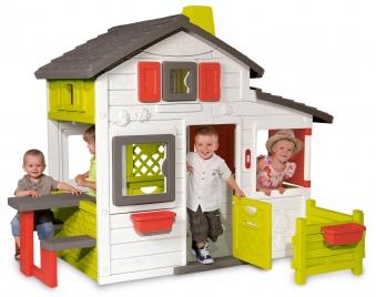 smoby spielhaus kinderspielhaus friends haus kunststoff bei. Black Bedroom Furniture Sets. Home Design Ideas