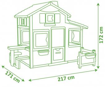 Smoby Spielhaus / Kinderspielhaus Friends Haus Kunststoff Bild 3