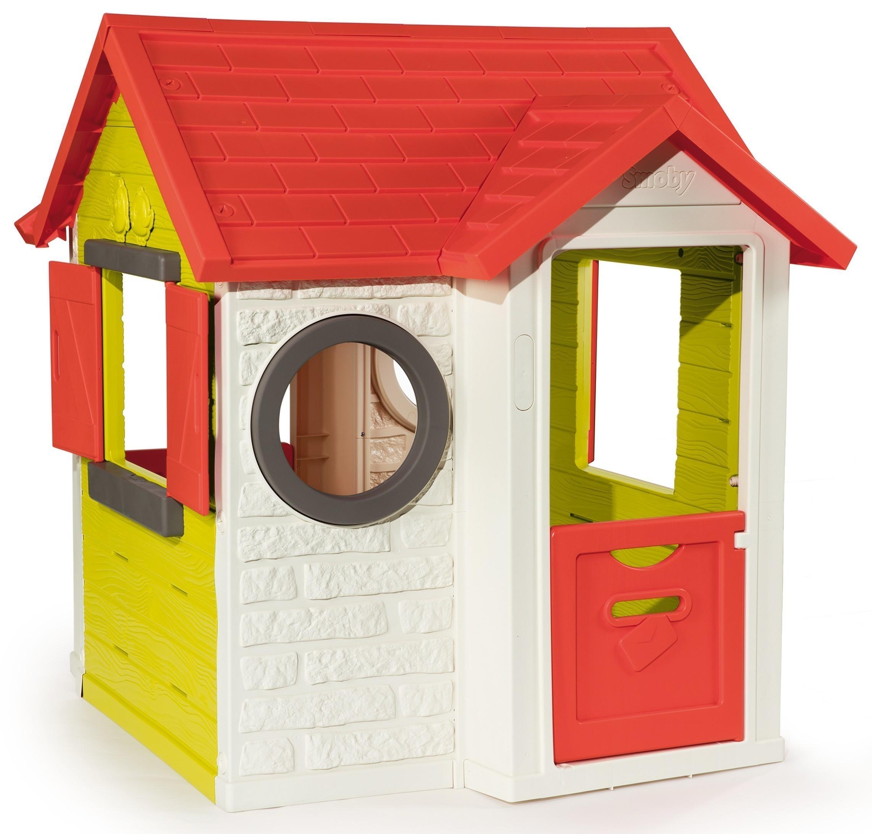 smoby spielhaus kinderspielhaus mein haus kunststoff bei. Black Bedroom Furniture Sets. Home Design Ideas