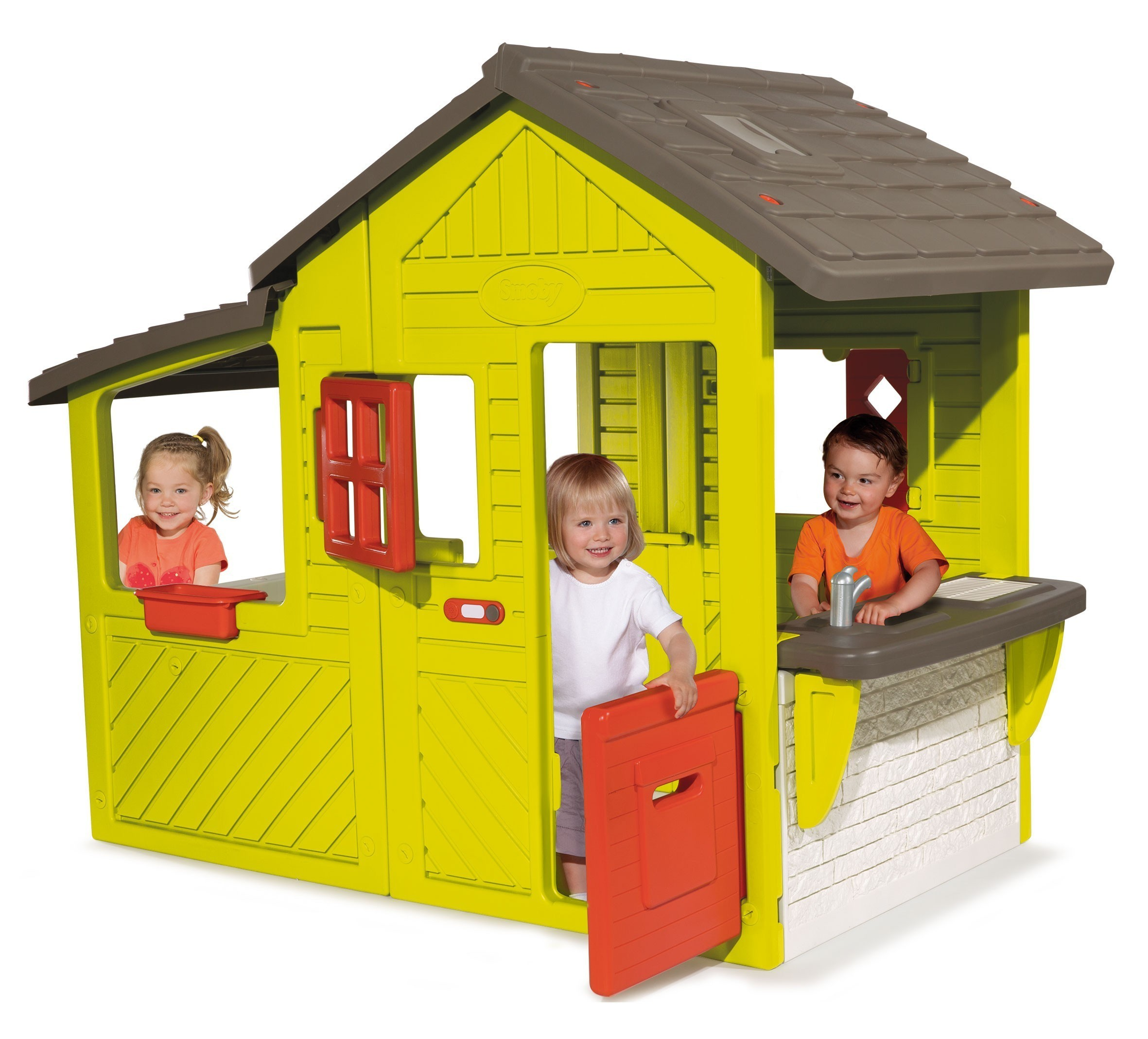 smoby spielhaus neo floralie kinder gartenhaus bei. Black Bedroom Furniture Sets. Home Design Ideas