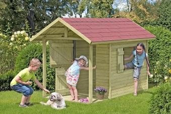 Spielhaus / Kinderspielhaus Andy mit Terrasse 150x240x160cm Bild 1