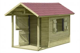 Spielhaus / Kinderspielhaus Andy mit Terrasse 150x240x160cm Bild 2