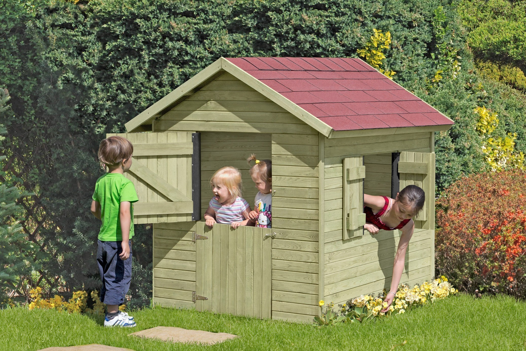 Spielhaus / Kinderspielhaus Bastian 150x165x160cm Bild 1