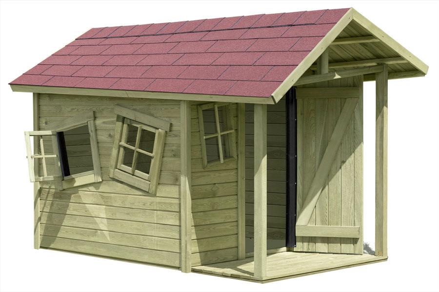 Spielhaus / Kinderspielhaus CRAZY Andy mit Terrasse 150x240x160cm Bild 2