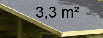 Dachpappe Bitumen für Kinderspielhaus 3,3m²