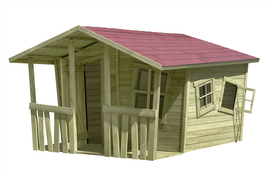 Spielhaus / Kinderspielhaus CRAZY Felix 226x240x164cm Bild 2