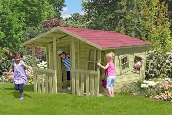 Spielhaus / Kinderspielhaus CRAZY Felix 226x240x164cm Bild 1