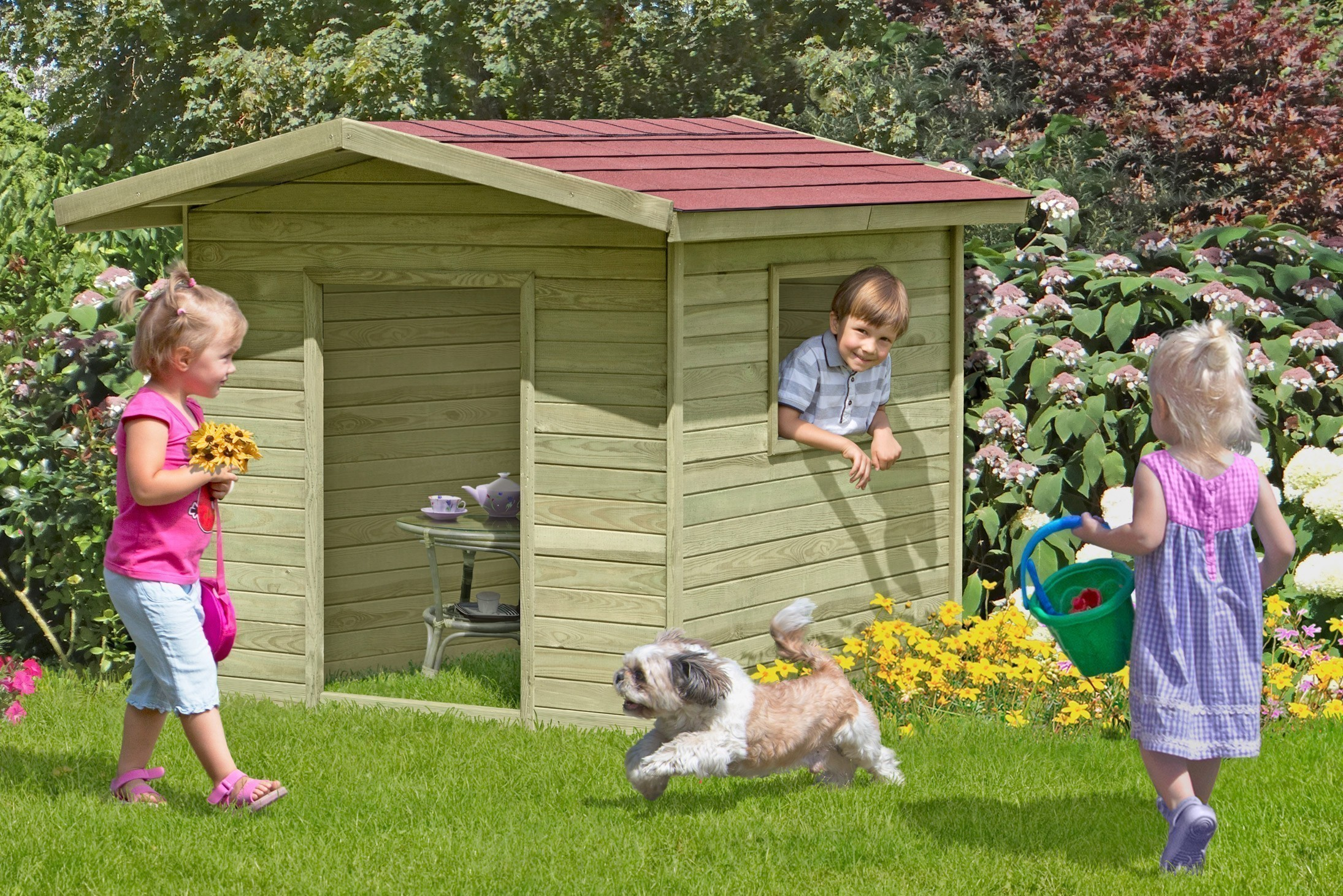 Spielhaus / Kinderspielhaus Henrik 150x150x123cm Bild 1