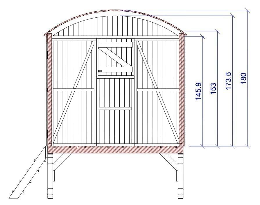 spielhaus kinderspielhaus joda bauwagen 180x200x245cm. Black Bedroom Furniture Sets. Home Design Ideas