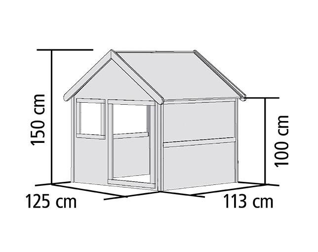 Spielhaus / Kinderspielhaus Karibu Akubi Jim 135x123x150cm Bild 2
