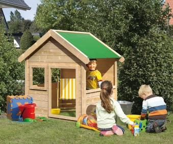 Spielhaus / Kinderspielhaus Karibu Akubi Jim 135x123x150cm Bild 1