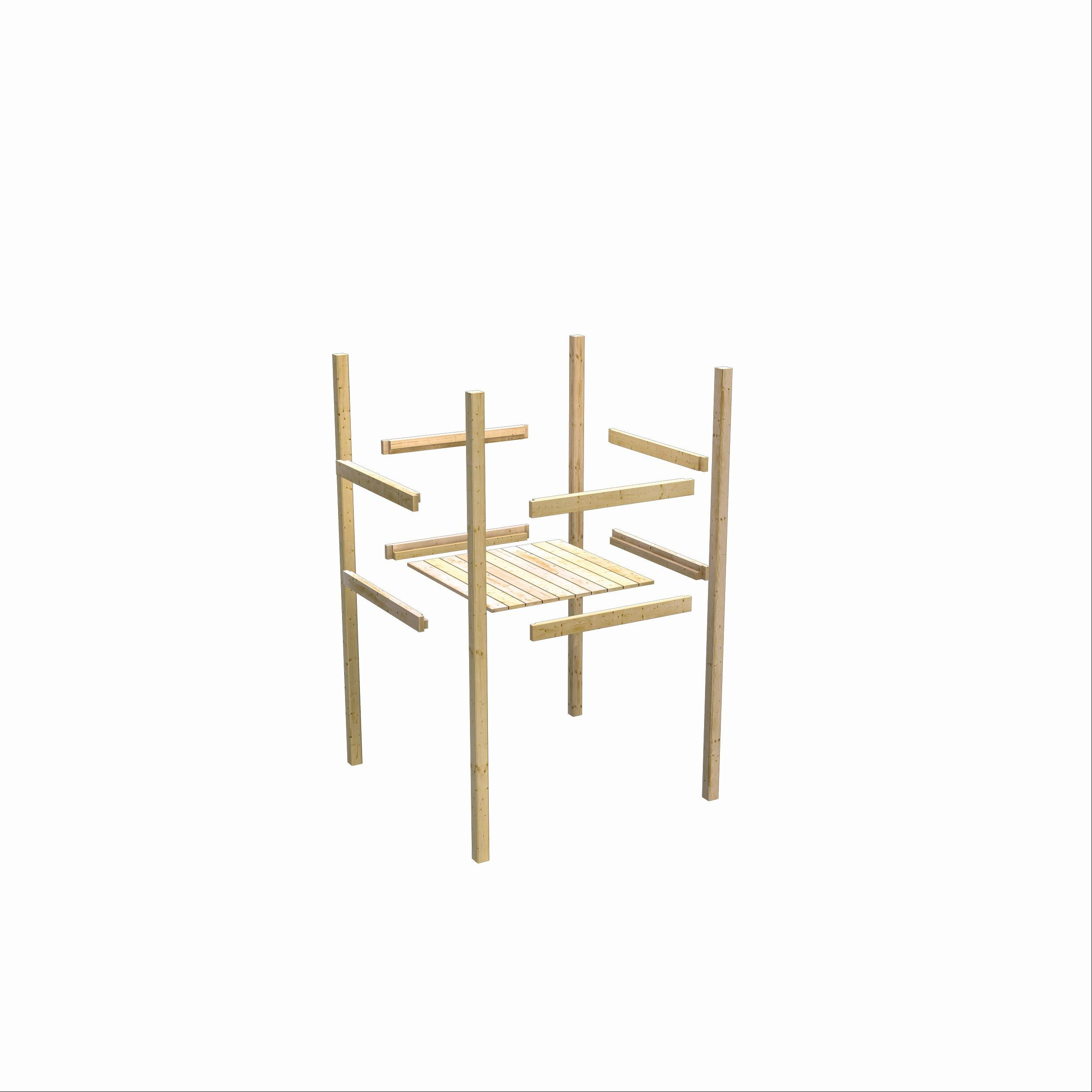 Spielhaus / Spielturm Karibu Akubi Frieda mit Anbau natur 214x214cm Bild 6