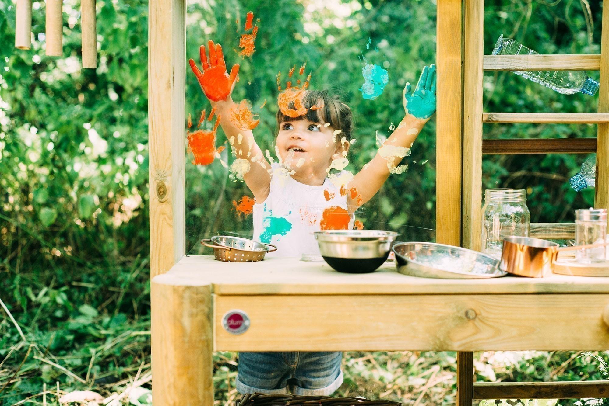 Spielküche Plum Discovery Küche / Gartenküche Holz 161x63x114cm Bild 2