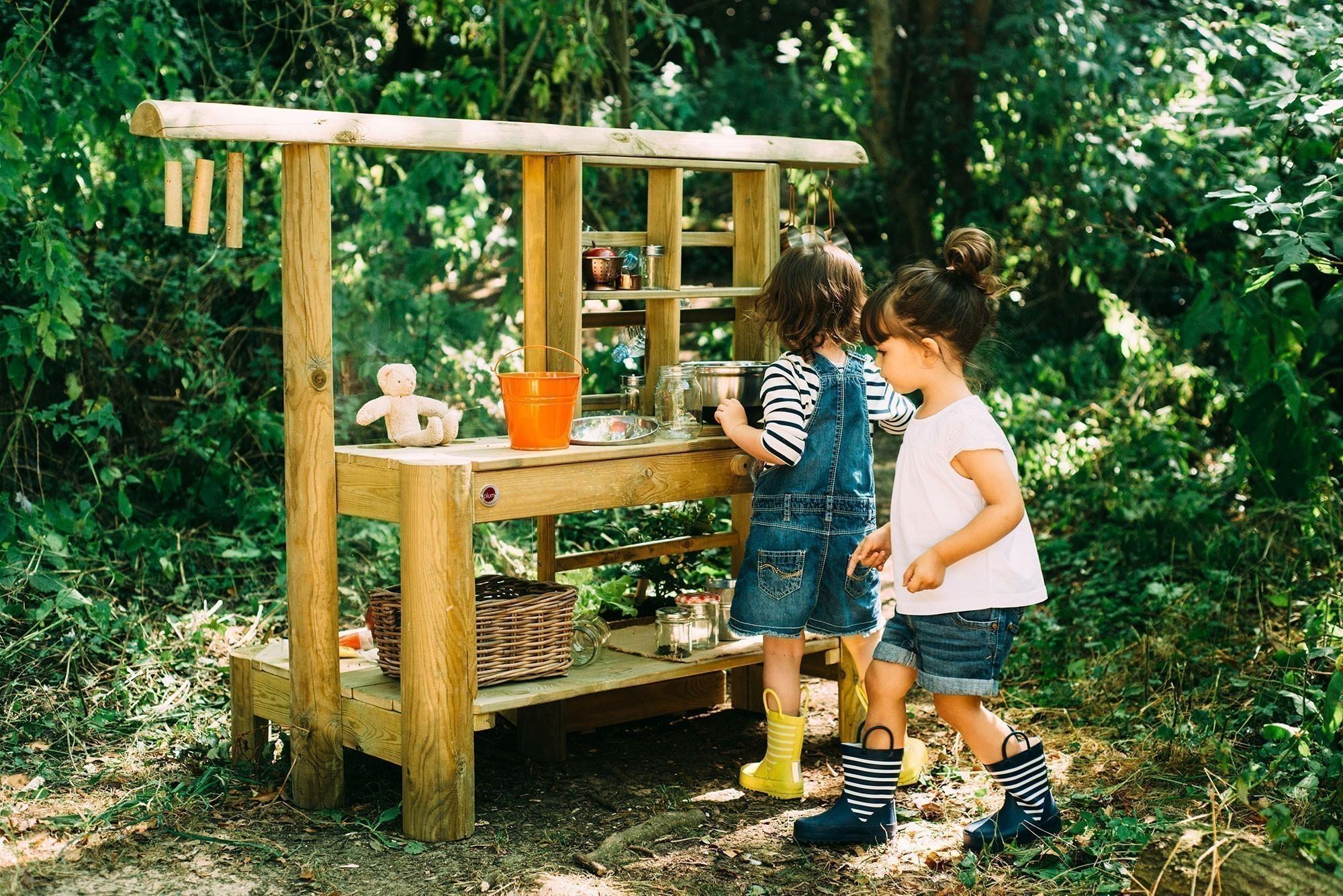 Spielküche Plum Discovery Küche / Gartenküche Holz 161x63x114cm Bild 3
