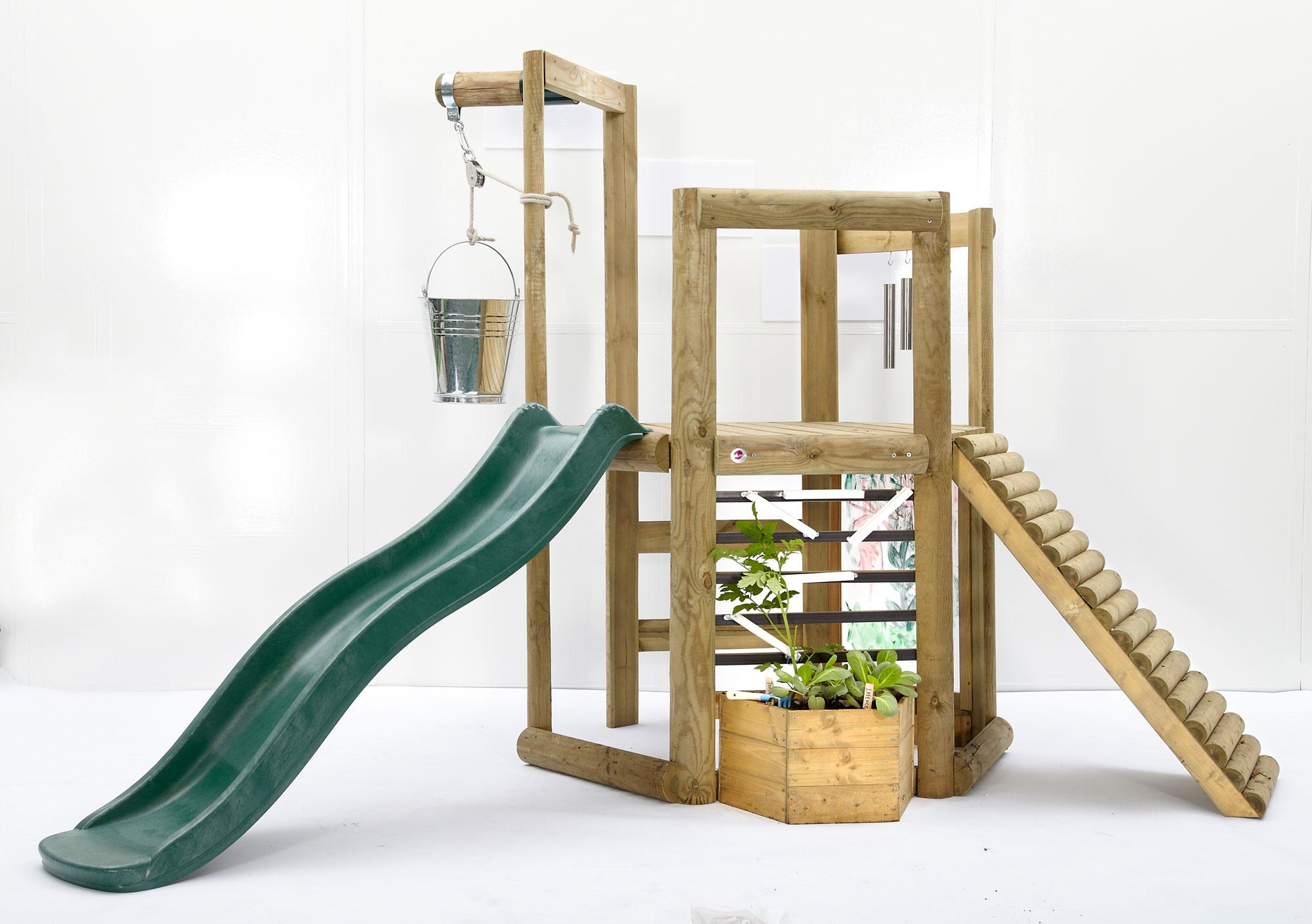 Spielturm Plum Discovery Spielhaus Holz 270x240x193cm Bild 1