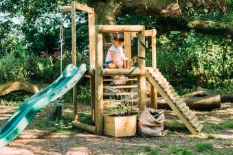Spielturm Plum Discovery Spielhaus Holz 270x240x193cm Bild 2
