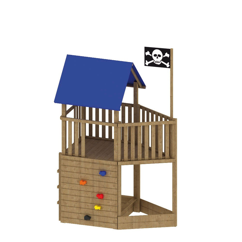 Spielanlage / Spielturm FIPS Pirat mit Zubehör 109x196x290cm Bild 2