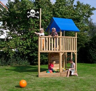 Spielanlage / Spielturm FIPS Pirat mit Zubehör 109x196x290cm Bild 1